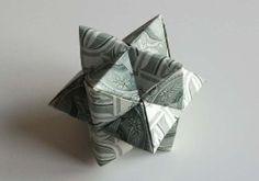3-D Star Artpiece - Money Origami Art