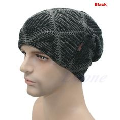 New Mens Ladies Knitted Woolly Winter Oversized Slouch Beanie Cap skateboard Hat-448E
