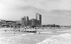 Durban Beach, circa by HiltonT African History, Historical Photos, East Coast, South Africa, New York Skyline, Birth, Cities, Places To Go, Pictures
