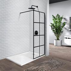 Industriduschvägg - 60 till 110 cm Bathtub Enclosures, Shower Enclosure, Shower Stalls, Walk In Shower Kits, Frameless Sliding Shower Doors, Shower Base, Toilet Storage, Custom Glass, Bathroom Furniture