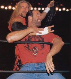 The big man and the medium-sized man ;-) - Kevin Nash and Scott Hall. Scott Hall, Kevin Nash, Wwe Tna, Team Photos, Professional Wrestling, Wwe Wrestlers, Big Men, Celebs, Guys