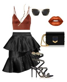 """""""Untitled #360"""" by stylistrr on Polyvore featuring Fleur du Mal, Balmain, Gianvito Rossi, Zoë Chicco and Jimmy Choo"""