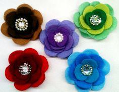 Felt Flower brooch - The Supermums Craft Fair