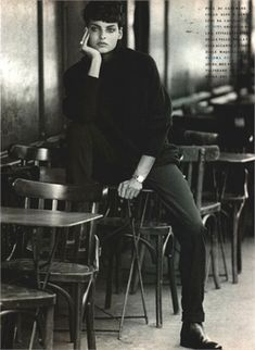 Photo: Peter Lindbergh. One of my favorite fashion photographers. Love his black and white images