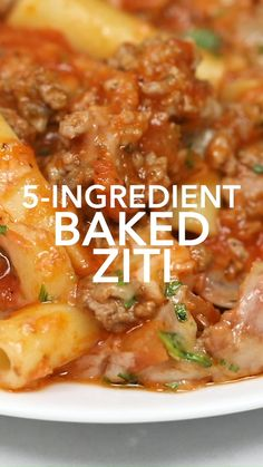Show that busy weeknight who's boss with this Baked Ziti! This family-friendly meal is easy to make ahead - it's even freezer-friendly so you can double the recipe and cook once, eat twice. Italian Recipes, Beef Recipes, Real Food Recipes, Cooking Recipes, Baked Ziti Recipes, Freezer Baked Ziti, Baked Ziti Healthy, Pasta Recipes, Rigatoni Recipes