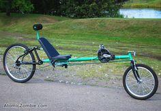 Voyageur long wheel base recumbent - Atomic Zombie Bicycle Gallery