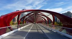 Peace bridge in Calgary Canada. Check http://journeylism.nl/stampede-city-boutique-hotel-elan-in-downtown-retail-and-entertainment-district-of-calgary-alberta-canada/ for a walk around town including food and accommodation tips city trip guide