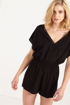 wv camille cap sleeve playsuit
