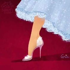 Cinderela. Os sapatos mais famosos de todos os tempos foram repaginados com o toque minimalista de Stuart Weitzman.