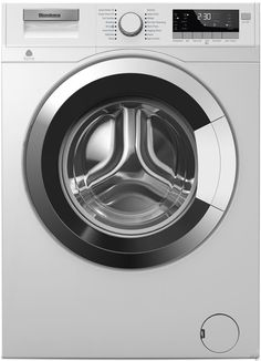 Blomberg WM98400SX 24 Inch 2.5 cu. ft. Front Load Washer with 16 Wash Cycles, 1,400 RPM, Rinse Sensor, Electronic LCD Control Console and Stainless Steel Wash Tub