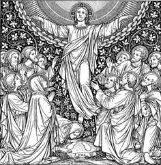 Catholic line art - The Ascension