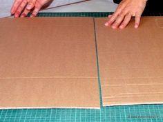 Comment réunir 2 plaques de carton ondulé (récup')