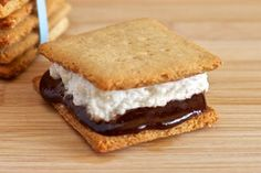 Paleo S'mores with Homemade Marshmallows & Graham Crackers (substitute powdered erythritol + 1/8 tsp stevia for the honey to lower carbs)