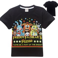 Five Nights at Freddy's Pizza Part of Show Minecraft Kids youth boys Jurassic Park 2T 3T 4T 5/6 7 Tee T-shirt
