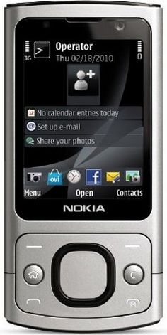 Nokia 6700 Slide Unlocked Phone--US Version with Full Warranty (Silver) - For Sale
