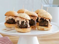 Reuben Meatball Sliders Recipe : Jeff Mauro : Food Network - FoodNetwork.com | 40 min