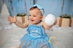 Frosted Skies Baby Blue Lace Tutu Romper made by Belle Threads Winter Wonderland Cake, Winter Party Themes, Blue Tutu, Sprinkle Party, Birthday Party Outfits, Cake Smash Outfit, First Birthday Photos, Babies First Christmas, Summer Kids