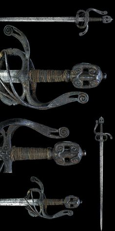German Rapier Dated: last quarter of the Century Place of Origin: Germany Swords And Daggers, Knives And Swords, Renaissance, Ancient Armor, Medieval Weapons, Arm Armor, Fantasy Weapons, Cold Steel, Katana