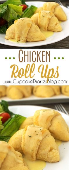 Chicken Roll Ups - A perfectly easy family meal!