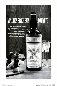 Original-Werbung/ Anzeige 1966 - 1/1-SEITE - MALTESERKREUZ AQUAVIT - ca. 150 X 230 mm