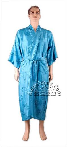 Today's feature product: Turquoise Silk Shou Kimono Robe  This Turquoise Silk Shou Kimono luxuriously embodies the symbol of longevity, or long life, in a pure silk fabric. Endowed with the special characters embodying longevity, this is one beautiful silk kimono that you shouldn't miss. Facts and features:  • Made of 100% silk. Dry-clean recommended  • Unisex: This can be worn by both men and women  • Wrap it around and secure it at the waist  http://www.asianideas.com/sishkiro3.html