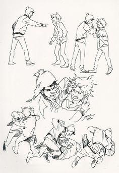 Creek ▪ Craig x Tweek ▪ South park South Park Anime, South Park Fanart, Character Art, Character Design, Tweek And Craig, Creek South Park, Drawing Sketches, Drawings, Art Poses