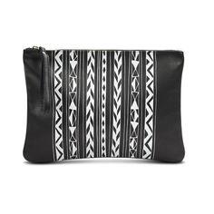 Pochette en cuir Noire Sac à main pour femmes GEO par LeahLerner