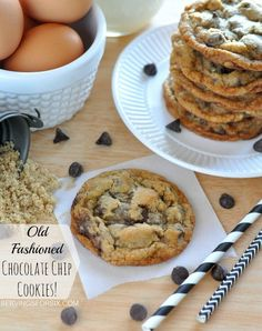 The best Old Fashioned Chocolate Chip Cookies #chocolatechipcookies #cookierecipes