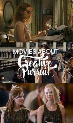 list of entertaining movies about creative pursuit. get inspired even when relaxing!