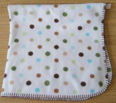 Circo White Polka Dot Fleece Baby Security Blanket Brown Green Blue Dots Target