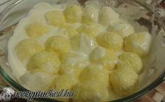 Pillekönnyű túrógombóc recept fotóval Hungarian Cuisine, Hungarian Recipes, Hungarian Food, Macaroni And Cheese, Oatmeal, Paleo, Food And Drink, Favorite Recipes, Sweets