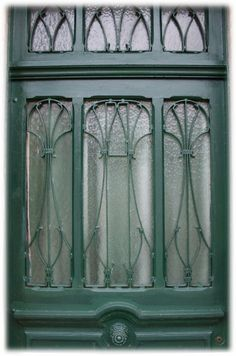 Porte d'Entrée Art Nouveau.. Grille.. 80 rue Salvador Allende, Le Havre (France, 76600)..