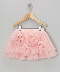 Take a look at this Pink Rosette Tulle Skirt - Toddler & Girls by Designer Kidz on #zulily today!