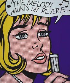 Roy Lichtenstein (American, 1923-1997)Reverie , 1965 Screenprint 27 1/8 X 23 (68.8 x 58.4 cm)Signed