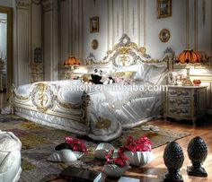 Luxury Rococo french provincial king size gold leaf bed for bedroom furniture, View royal king size bed, OE-FASHION Product Details from Foshan Oe-Fashion Furniture Co., Ltd. on Alibaba.com