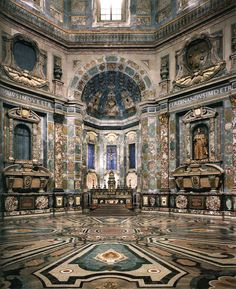Neo-Classical architecture is also inspired by 16th & 17th century models - eg. Chapel of the Princes, Mausoleum of the Medici Family at the Medici Chapel, Florence, Italy - polychromic marble