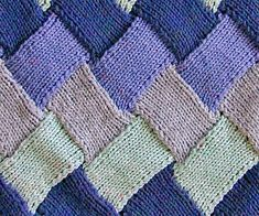 This Entrelac Knitted Baby Blanket Pattern is a stunner and we have the rainbow version plus a fabulous free pattern. View the video and all the ideas. Knitting Stitches, Knitting Patterns Free, Free Knitting, Baby Knitting, Stitch Patterns, Free Pattern, Crochet Patterns, Crochet Wool, How To Purl Knit