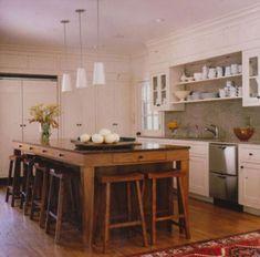 Seats all around island in kitchen