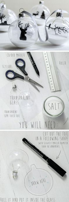 Elegant Transparent Ornaments