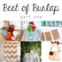 Best of Burlap Part Five - Burlap Projects