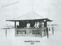 The Original Stewart's Rootbeer Stand, Mansfield, Ohio. 1924.