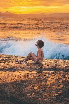 #Men #Morning #Beach
