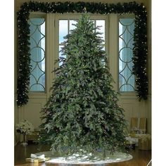 Downswept Hunter Fir Pre-Lit Artificial Christmas Tree - Clear Lights Looks so real!