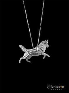 Siberian Husky Leader  sterling silver by SiberianArtJewelry, $99.00