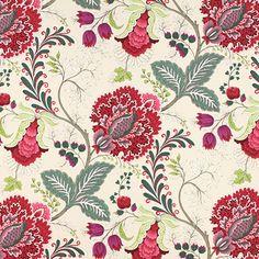 29,95€/m - rojo - Telas de decoración extra anchas - Telas de decoración – flores - Telas para muebles – flores - telas.es