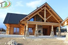 zrub vo Veľkej Lomnici / loghome in Velka Lomnica, Slovakia www. Log Houses, Cabins, Homes, House Styles, Home Decor, Timber Homes, Homemade Home Decor, Houses, Log Cabin Homes
