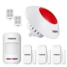 Fuers 110db Loud Standalone Indoor Strobe Flashing Siren Door and Window Spot Alarm System DIY Kit, Wireless Home Security Burglar Alarm System,Keyfob Remotes and Motion Detector Wireless intelligent code setting,maximum support 30 pcs remote controllers and 50 pcs detectors,like PIR motion sensor,door sensor in our shop fuers product(FP819,FD025)etc. Built-in Ni-Hi rechargeable battery 3.7V/600mAh,Standby over 8 hours in case of a power outage. The siren is wireless, plug-in