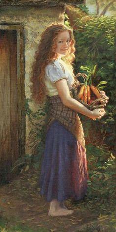 Harvest Joy Sheri Dinardi Oil ~ 20 x 10 Fine Art, Beautiful Paintings, Oeuvre D'art, Art Pictures, Photos, Female Art, Painting & Drawing, Fantasy Art, Art Photography