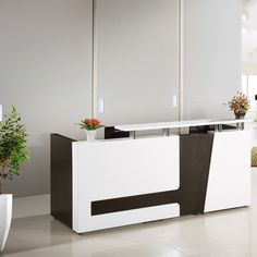 Factory Whole Price Mdf Reception Salon Counter Modern Hotel Design