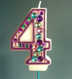Items similar to Birthday Candle - Blinged Out Number Candle - SINGLE DIGIT - Rhinestone, glitter, custom made, blingy number candles. First birthday. 4th Birthday Parties, 21st Birthday, Birthday Celebration, Birthday Ideas, Sheriff Callie Birthday, Little Pony Party, Party Accessories, Childrens Party, New Age